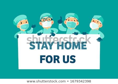 Chiedere medico informazioni banner moderno stilizzato Foto d'archivio © vectorikart