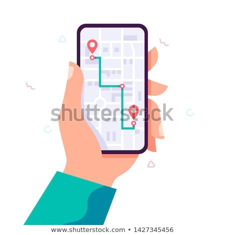 térképek · egyszerűen · ikonok · vektor · háló · felhasználó - stock fotó © cidepix