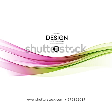 abstract vector background green and pink wavy stock photo © fresh_5265954