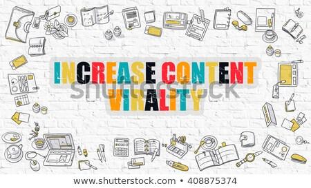 Increase Content Virality in Multicolor. Doodle Design. Stock photo © tashatuvango