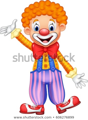 Happy Clown with Colorful Pants Stock photo © derocz