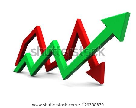 üzleti grafikon lefelé piros nyíl csökkenés renderelt kép Stock fotó © Oakozhan