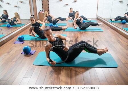 Csoport fitt nők testmozgás pilates gyűrű Stock fotó © wavebreak_media