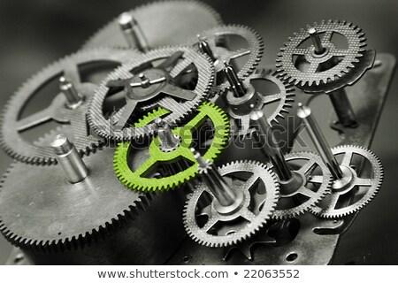 Saat dişliler yeşil takı antika altın Stok fotoğraf © blackmoon979