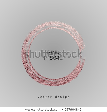 Round banner with gold roses Stock photo © blackmoon979