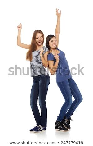 Dos personas baile blanco ilustración danza deporte Foto stock © bluering