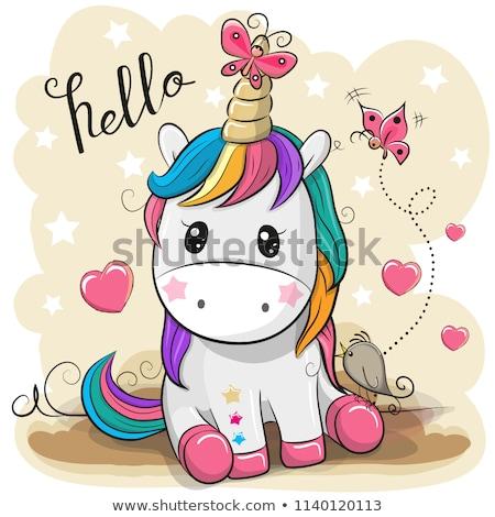 Sad Cartoon Unicorn Stock photo © cthoman