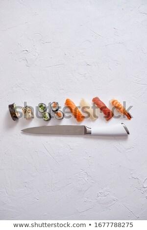 ayarlamak · farklı · sushi · balık · yeşil · Japon - stok fotoğraf © dash