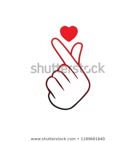 Szó szeretet ujjak szív szimbólum forma Stock fotó © Olena