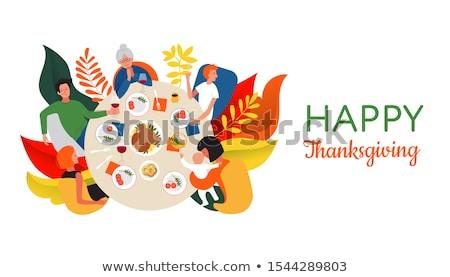 happy family poster vector cartoon characters text stock photo © robuart