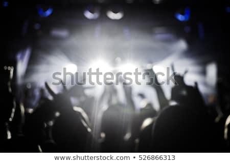Sziluett emberek kő előadás tömeg árnyék Stock fotó © Lopolo