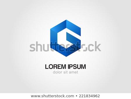 Logo vector teken zeshoek symbool icon Stockfoto © blaskorizov
