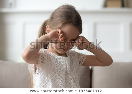 children crying in living room stock photo © colematt
