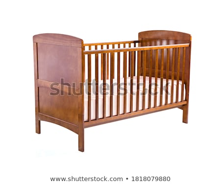 babies in crib on white background stock photo © colematt
