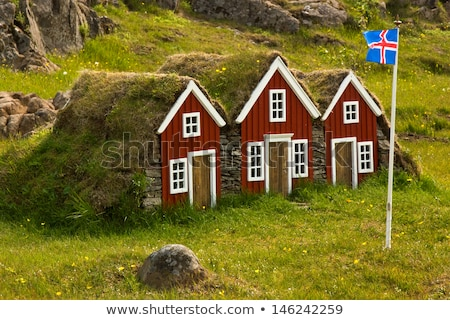 House with flag of iceland Stock photo © MikhailMishchenko
