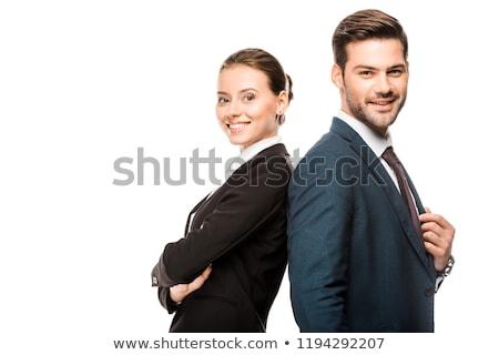 para · miłości · mąż · żona · retro - zdjęcia stock © studiostoks
