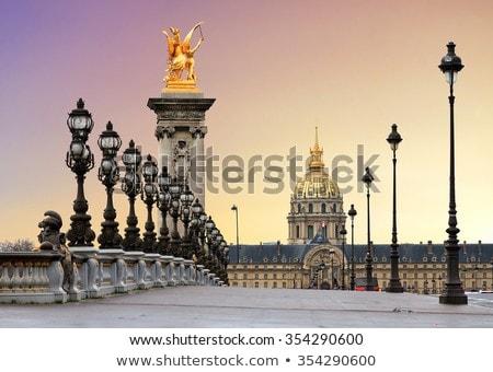 Сток-фото: моста · закат · весны · Париж · Франция · цветы
