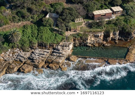 Aerial views of McIvers Ocean Baths Coogee Australia Stock photo © lovleah