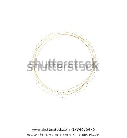 Abstrakten golden glitter Rahmen Papier glücklich Stock foto © SArts