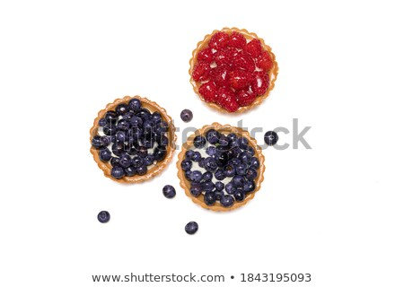 Homemade shortbread tartlet with blieberries Stock photo © Melnyk