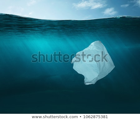 Water pollution with plastic bags in river Stock photo © bluering