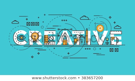 Creative thinking - modern flat design style abstract banner Stock photo © Decorwithme
