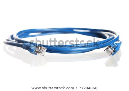 синий · сеть · кабеля · отражение · изолированный - Сток-фото © lichtmeister