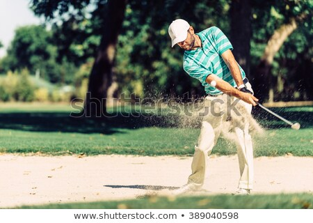 Golfer in sand trap. Stock photo © lichtmeister