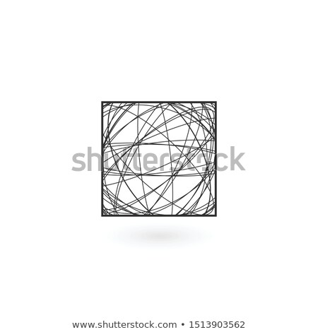 Kaos doğrusal kare logo şablon stok Stok fotoğraf © kyryloff