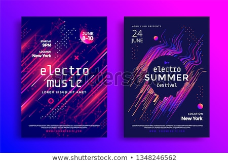 flyer electronic music festival sound event dj party abstract musical poster technology backgroun stock photo © andrei_