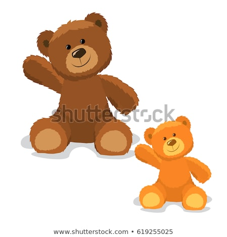 Ursuleţ desen animat jucărie miniaturi ilustrare Imagine de stoc © izakowski
