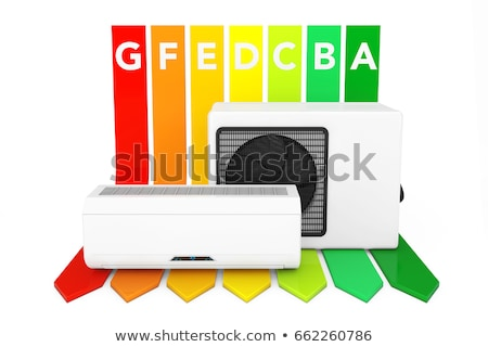 climatiseur · rouge · mur · technologie · blanche · cool - photo stock © cidepix