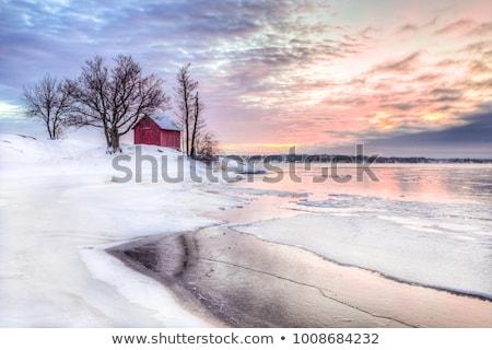 Winter beach scene Stock photo © jsnover