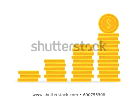 Stacks of Gold Coins, Investments Growth Vector Stock photo © robuart