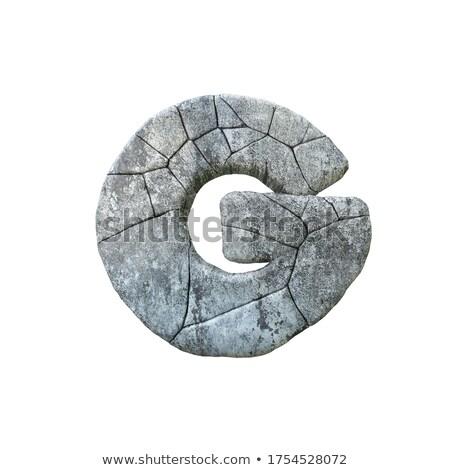 Beton törés betűtípus g betű 3D 3d render Stock fotó © djmilic