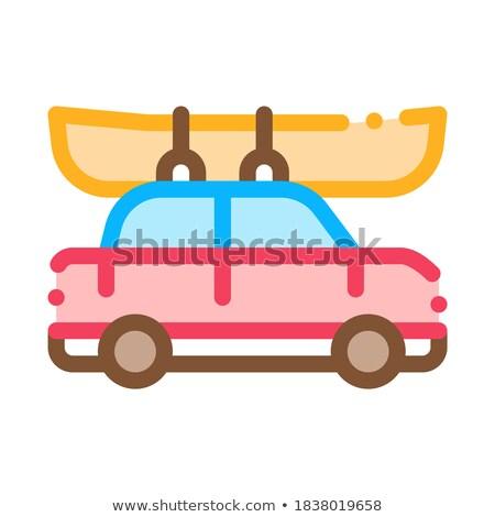 車 · ボート · アイコン · ベクトル · 薄い · 行 - ストックフォト © pikepicture
