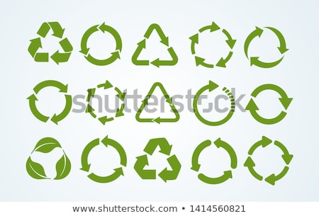 Vektör ayarlamak çevre geri dönüşüm simgeler bitki Stok fotoğraf © nezezon