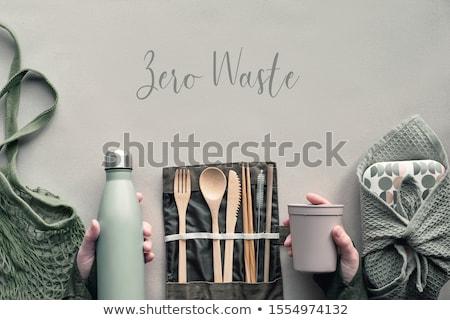 нулевой отходов пластиковых свободный зеленый Сток-фото © vectorikart