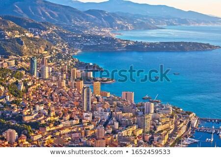 Monaco. Monte Carlo cityscape colorful evening view from above Stock photo © xbrchx