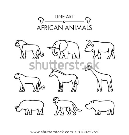 olifant · icon · vector · schets · illustratie · teken - stockfoto © pikepicture