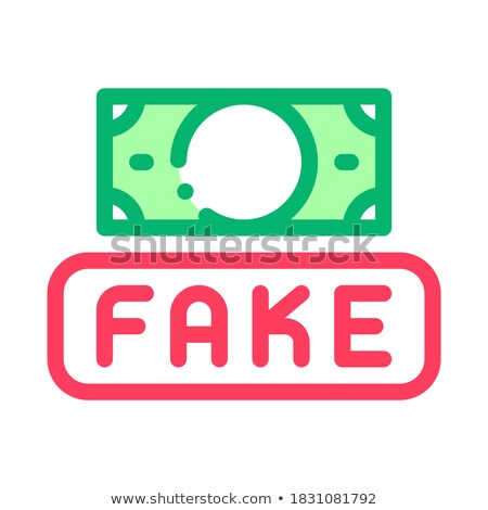 namaak · geld · valuta · icon · vector · schets - stockfoto © pikepicture