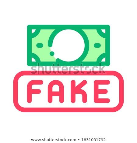 Falsificação dinheiro moeda ícone vetor Foto stock © pikepicture