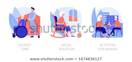 Holunder Menschen Aktivitäten Vektor Metaphern Lifestyle Stock foto © RAStudio