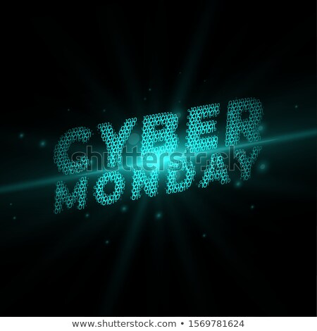cyber monday written in technology style background Stock photo © SArts