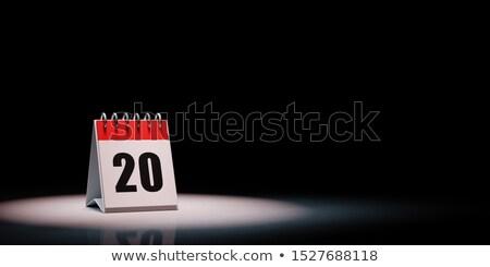 Calendario nero giorno 20 rosso bianco Foto d'archivio © make