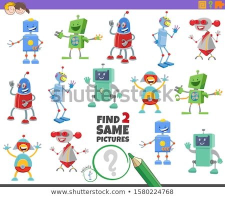 differences game with fantasy robots characters Stock photo © izakowski