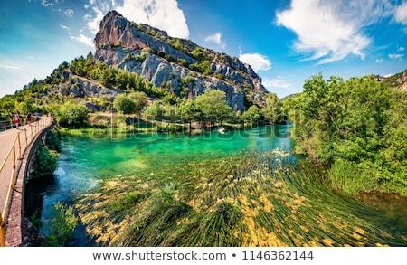 Rocas parque Croacia bancos río paisaje Foto stock © borisb17