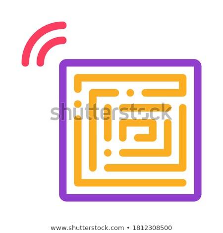 Desechable pegatinas icono vector ilustración Foto stock © pikepicture