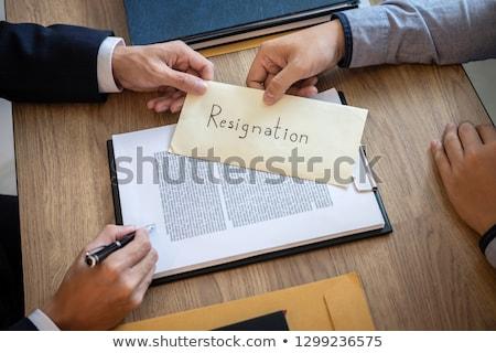 Affaires démission lettre exécutif employeur Photo stock © snowing