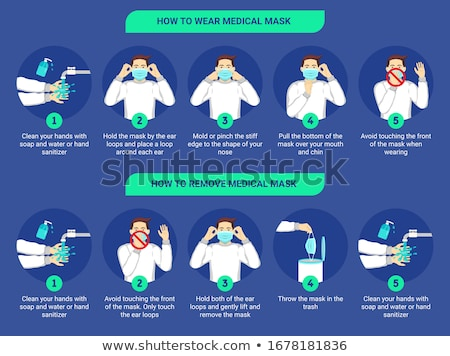 Medical Health Face Mask Corona Virus Covid 19 Protection Isolated Vector Illustration Stock photo © jeff_hobrath